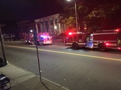 Manhole explosion outside Dorchester district court