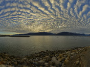 Wild cloud formations over Pang Fiord