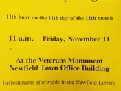 Veterans Day ceremony in Newfield