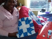 Making Veterans Quilt of Valor and gave to a Veteran.