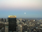 Supermoon over Boston from The Prudential Tower Skywalk Observatory.