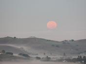 Super moonset, Hollister