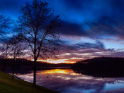 Cedar Lake reflections NE of Winterset