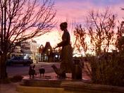 Sunrise over Historic Downtown, Cochrane
