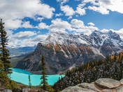 Fall Colors at Lake Louise and Fairview Mountain, Banff National Park, Alberta