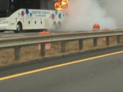 Bus fire on Maine turnpike