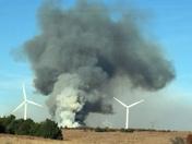 Fire in Dewey county
