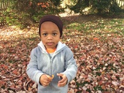 Corbin enjoying outside