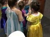 Elsa singing at FunSpot in Laconia NH