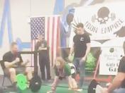 Michaela Hartford 9 - Ox Jr deadlifts 90lbs at her first powerlifting meet!
