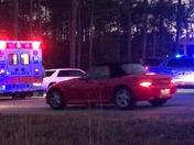 Moped hits car