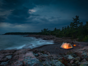 Glowing Tent on Georgian Bay