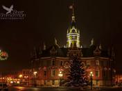 Stratford City Hall at Christmas