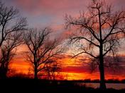 Monday night sunset at lake manawa