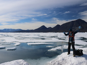 Sampling for wild microbes in Disraeli Fjord, Nu