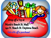 Toy Drive @ Nicole's Beach St Mall Daytona Beach