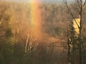 My view of the end of 12/1/16 rainbow