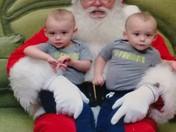 Identical twins Jared and Noah meet Santa!