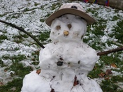First snow man