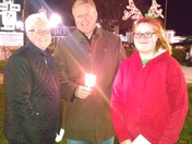 Mike Harvey reading The Night Before Christmas at Mount Pleasant Christmas candl