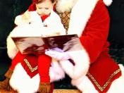 Piper and Santa Making memories