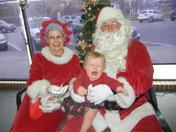 Guess she doesn't like Santa...