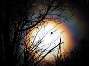 Rainbow Around the New Moon!