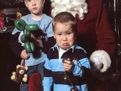 Grandsons with Santa