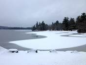 Fresh Snow on Little Lake Sunapee
