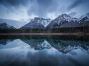 Blue hour on the Wedge Pond, Kananaskis