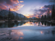 Sunrise at Policeman's Creek, Canmore
