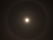 Halo Around the Moon This Morning.