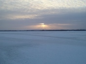 The frozen tundra, aka, lake champlain.