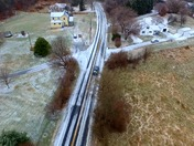 Drone footage of Ellicott City and Icy Roads from this morning