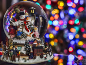 Snow Globe and Christmas Bokeh