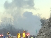 Car engulfed in flames turnpike westbound 96.8