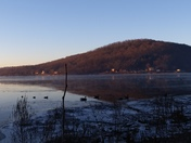 Frosty morning on the Susquehanna River