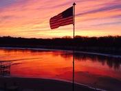 Winter sunrise at Cedar Creek Lake