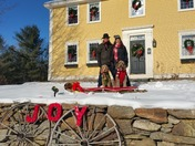 Tobogganing, a new Christmas family tradition