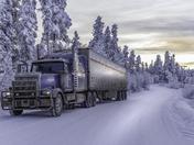 Trucking on the Alaska Highway, Watson Lake, Yukon