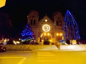 Christmas lights in downtown Santa Fe