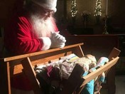Santa takes time out