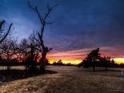 Sunset tonight in Moore