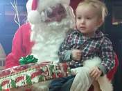 Hayden with Santa
