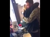 Son surprises mom from military