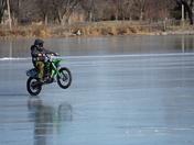 Motor Cross biking on Lake Manawa