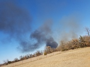 Fire behind 190th in dibble,Oklahoma