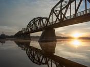 Fredericton Walking Bridge At Dawn