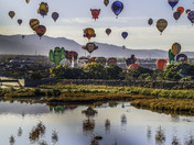 Balloon fiesta reflection