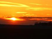 sunset northwest of Fremont tonight